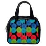 Vibrant Retro Pattern Classic Handbags (2 Sides) Back