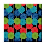 Vibrant Retro Pattern Face Towel Front