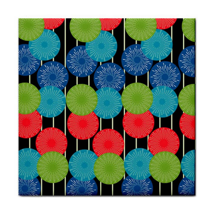 Vibrant Retro Pattern Face Towel