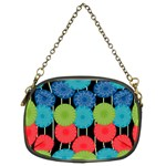 Vibrant Retro Pattern Chain Purses (Two Sides)  Back