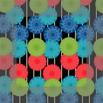 Vibrant Retro Pattern Mini Canvas 4  x 4  4  x 4  x 0.875  Stretched Canvas