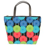 Vibrant Retro Pattern Bucket Bags Front