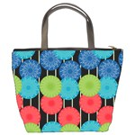 Vibrant Retro Pattern Bucket Bags Back