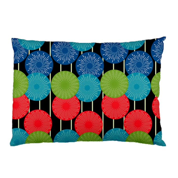Vibrant Retro Pattern Pillow Case