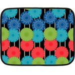 Vibrant Retro Pattern Fleece Blanket (Mini) 35 x27 Blanket