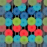 Vibrant Retro Pattern Mini Canvas 6  x 6  6  x 6  x 0.875  Stretched Canvas
