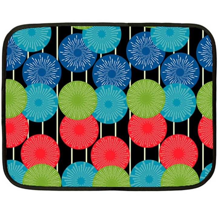 Vibrant Retro Pattern Double Sided Fleece Blanket (Mini)