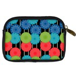 Vibrant Retro Pattern Digital Camera Cases Back
