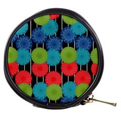 Vibrant Retro Pattern Mini Makeup Bags