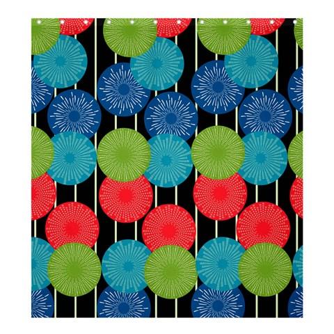 Vibrant Retro Pattern Shower Curtain 66  x 72  (Large)