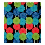 Vibrant Retro Pattern Shower Curtain 66  x 72  (Large)  58.75 x64.8 Curtain