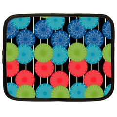Vibrant Retro Pattern Netbook Case (xxl)
