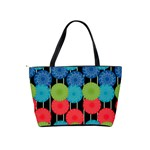 Vibrant Retro Pattern Shoulder Handbags Back