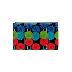 Vibrant Retro Pattern Cosmetic Bag (Small)