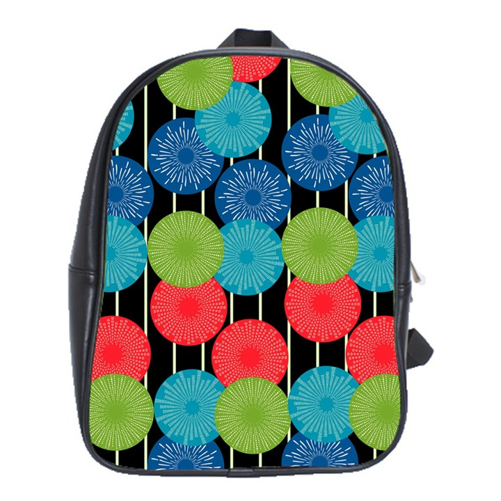 Vibrant Retro Pattern School Bags(Large)