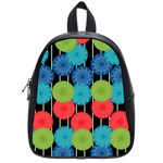 Vibrant Retro Pattern School Bags (Small)  Front