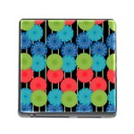 Vibrant Retro Pattern Memory Card Reader (Square) Front