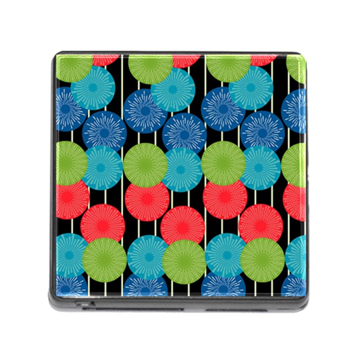 Vibrant Retro Pattern Memory Card Reader (Square)