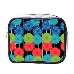 Vibrant Retro Pattern Mini Toiletries Bags