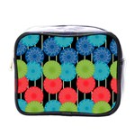 Vibrant Retro Pattern Mini Toiletries Bags Front