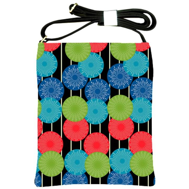 Vibrant Retro Pattern Shoulder Sling Bags