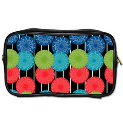 Vibrant Retro Pattern Toiletries Bags 2 Side