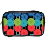 Vibrant Retro Pattern Toiletries Bags 2-Side Back
