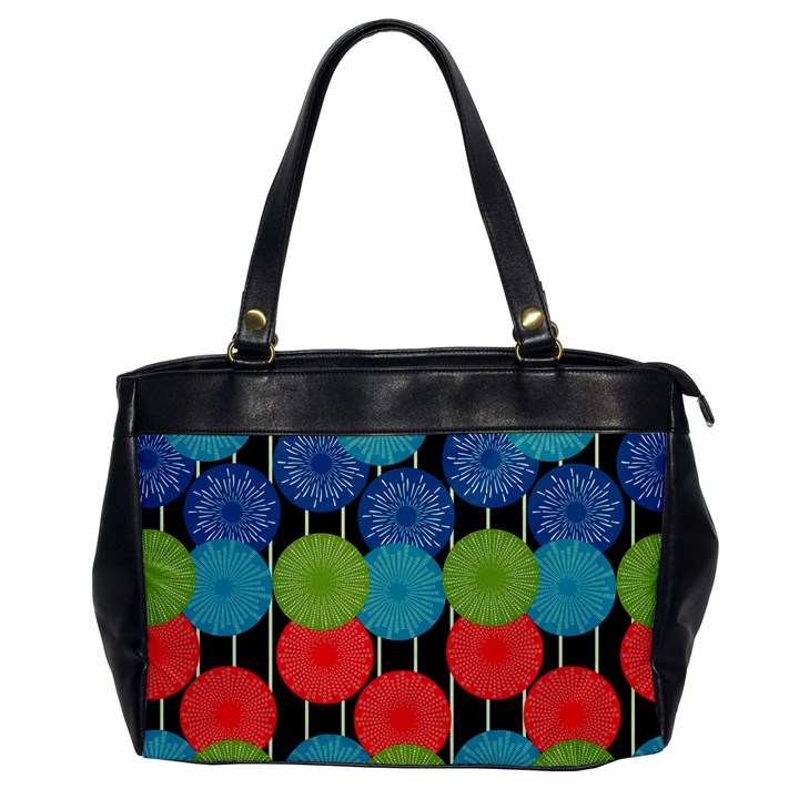 Vibrant Retro Pattern Office Handbags