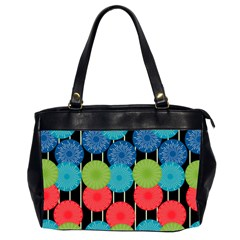 Vibrant Retro Pattern Office Handbags (2 Sides)