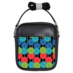 Vibrant Retro Pattern Girls Sling Bags