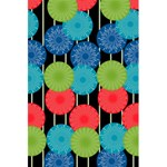 Vibrant Retro Pattern 5.5  x 8.5  Notebooks Back Cover Inside