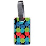 Vibrant Retro Pattern Luggage Tags (Two Sides) Front