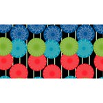 Vibrant Retro Pattern Magic Photo Cubes Long Side 2