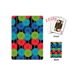Vibrant Retro Pattern Playing Cards (Mini)  Back