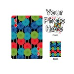Vibrant Retro Pattern Playing Cards 54 (Mini)  Front - Diamond6