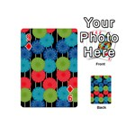 Vibrant Retro Pattern Playing Cards 54 (Mini)  Front - Diamond9