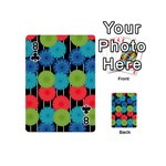 Vibrant Retro Pattern Playing Cards 54 (Mini)  Front - Club8