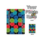 Vibrant Retro Pattern Playing Cards 54 (Mini)  Front - Joker1