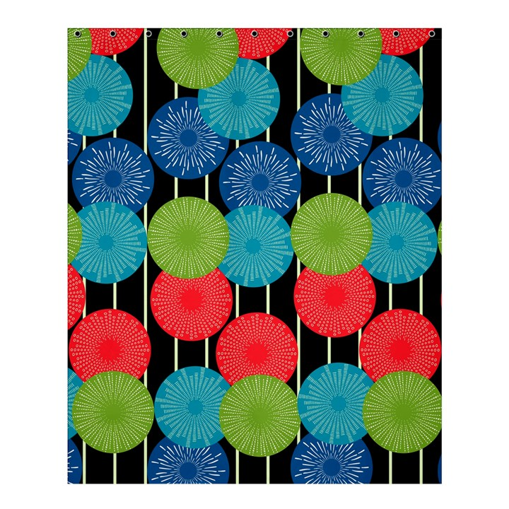 Vibrant Retro Pattern Shower Curtain 60  x 72  (Medium)
