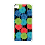 Vibrant Retro Pattern Apple iPhone 4 Case (White) Front