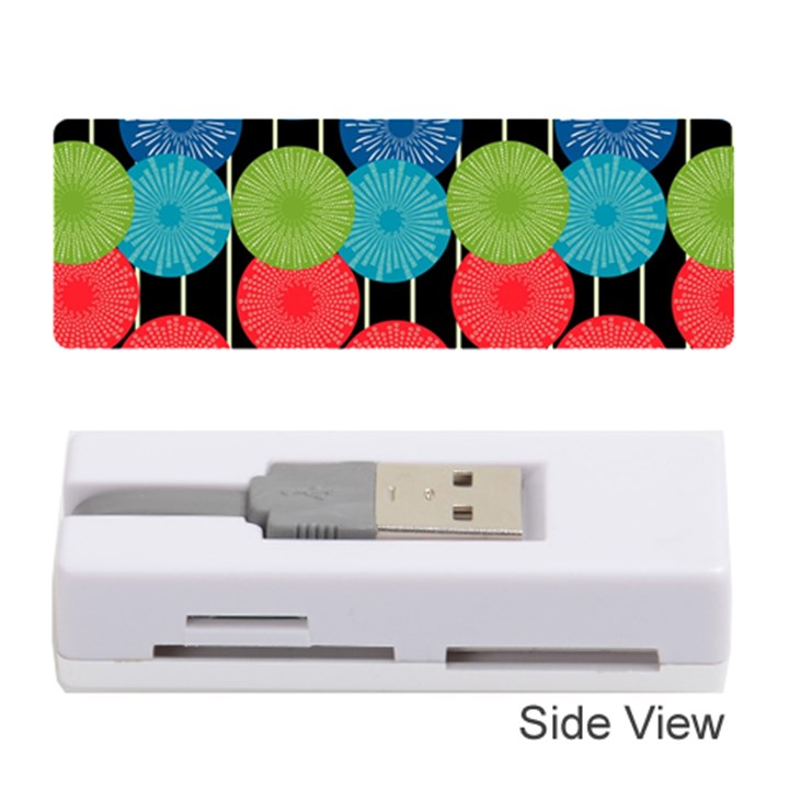 Vibrant Retro Pattern Memory Card Reader (Stick)
