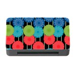 Vibrant Retro Pattern Memory Card Reader with CF Front