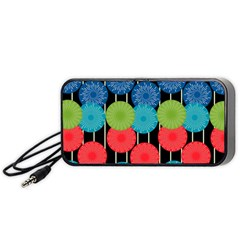 Vibrant Retro Pattern Portable Speaker (Black)
