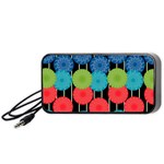 Vibrant Retro Pattern Portable Speaker (Black)  Front