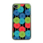 Vibrant Retro Pattern Apple iPhone 4 Case (Clear) Front