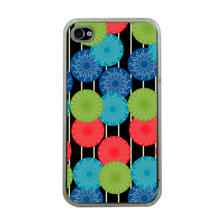 Vibrant Retro Pattern Apple iPhone 4 Case (Clear)