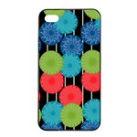 Vibrant Retro Pattern Apple iPhone 4/4s Seamless Case (Black) Front