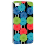 Vibrant Retro Pattern Apple iPhone 4/4s Seamless Case (White) Front