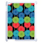 Vibrant Retro Pattern Apple iPad 2 Case (White) Front