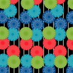 Vibrant Retro Pattern ENGAGED 3D Greeting Card (8x4) Inside